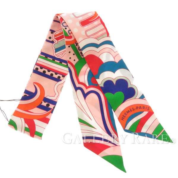エルメス スカーフ ツイリー フォーブル・レインボー Faubourg Rainbow HERMES 2019年秋冬 シルクツイル