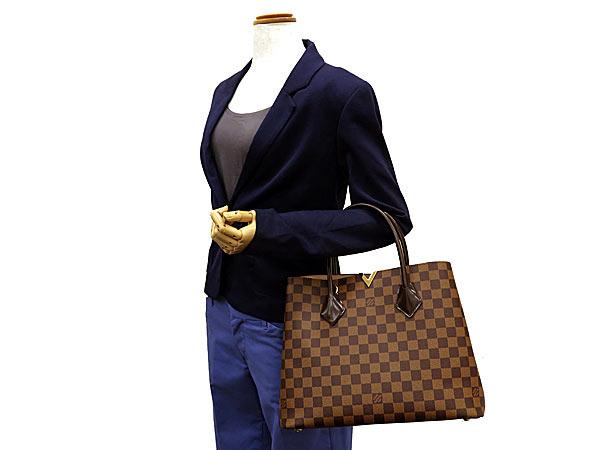 路易 · 威登大手提包双色格子肯辛顿 N41435 路易威登路易威登包
