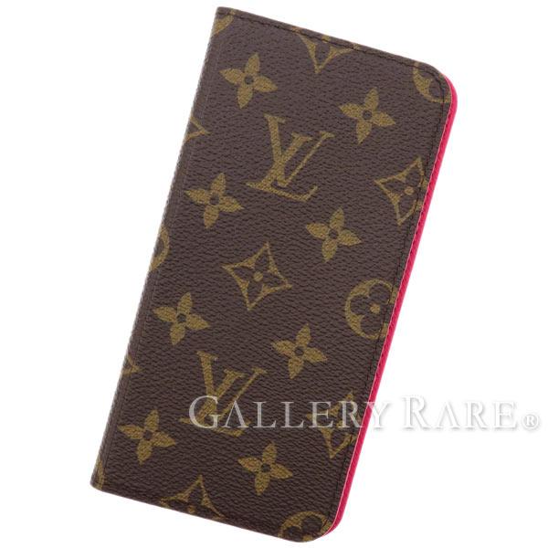 online store 3536e 345ae LOUIS VUITTON Monogram Folio iPhone Case iPhone 6 Plus Rose M61634