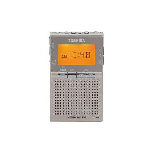 TOSHIBA クーポン20%off 9 10 0時-9 ワイドFM 至上 TY-SPR6-N 11 2時 安全 AMポケットラジオ