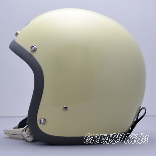 Motorcycle helmets BUCOxGREASYKIDS Collaboration 1st ivory (XS~M/L)size