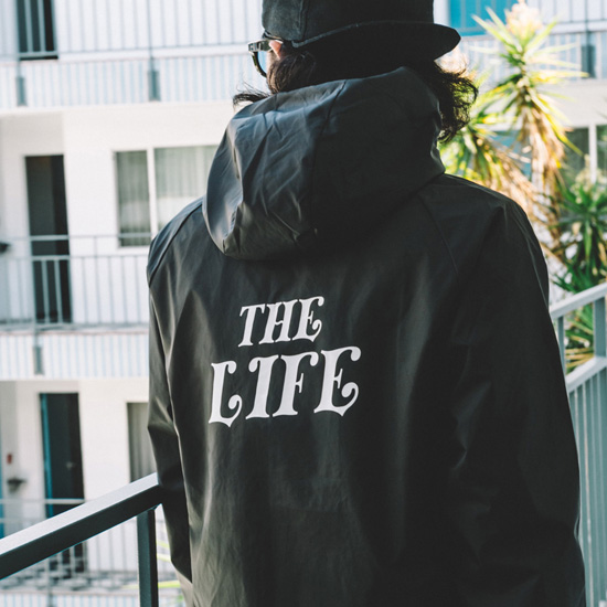 f0040365d SALE sale removal of a ban CRIMIE dark me jacket THE LIFE food coach jacket  HOOD COACHES THE LIFE JACKET(BLACK) ○ JKT CRIMIE2019 /190209 Kurai me sale  ...