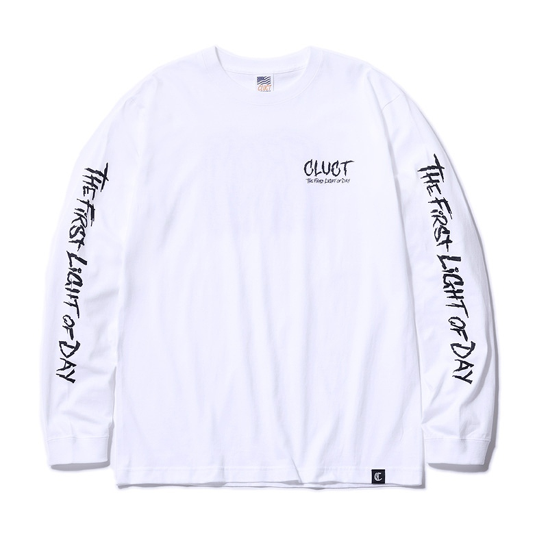 CLUCT クラクト  L/S TEE FROM DAWN/ロングスリーブTシャツ/ロンT /REMIO/グラフティアーティスト/ストリート系(BLUE/BLACK/GREEN) ●SHT CLUCT2019SPRING/190316