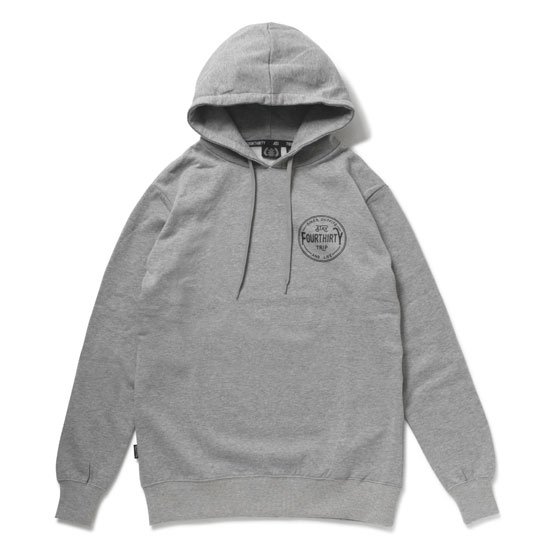 430(フォーサーティ) パーカーSTAYTRIP CIRCLE LOGO P/O PARKA(GRAY) ●SWP fourthirty2018夏180820追加