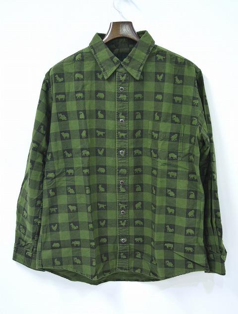 【新品】 HEALTH (ヘルス) ネルシャツ Twelve GREEN L SHIRT
