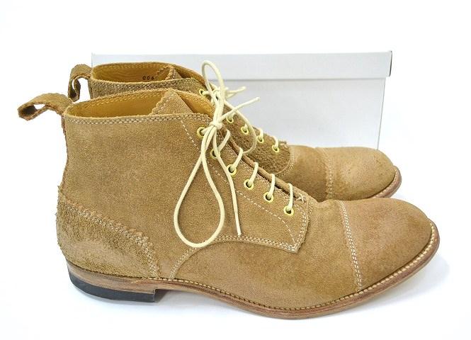 【新品】 Lay The Foundation (レイザファンデーション) Leather Boots レースアップブーツ 8,5 BEIGE