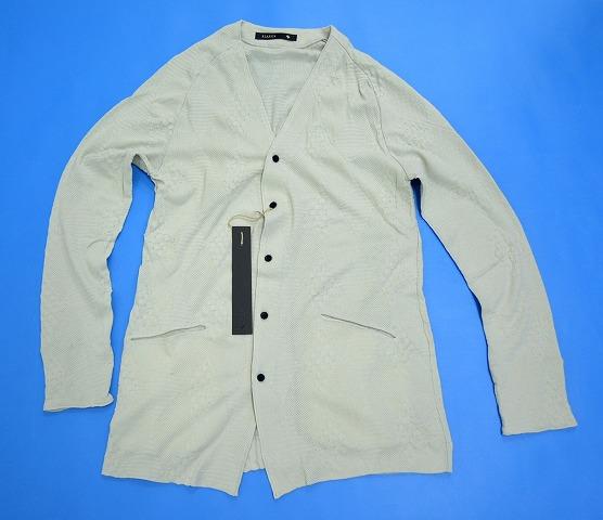 【新品】 KLASICA (クラシカ) Argyle Patterned Jersey Cardigan アーガイルパターン ジャージカーディガン Greige 2