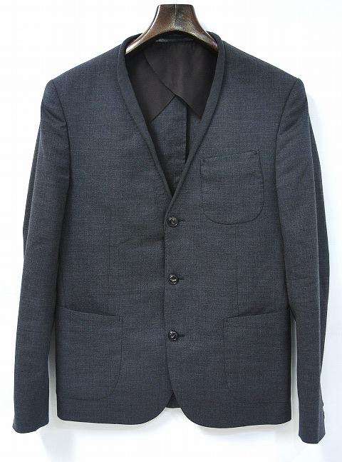 【中古】 kolor (カラー)Tropical Wool 3B Jacket トロピカルウール 3ボタン ジャケット テーラード GREY 2