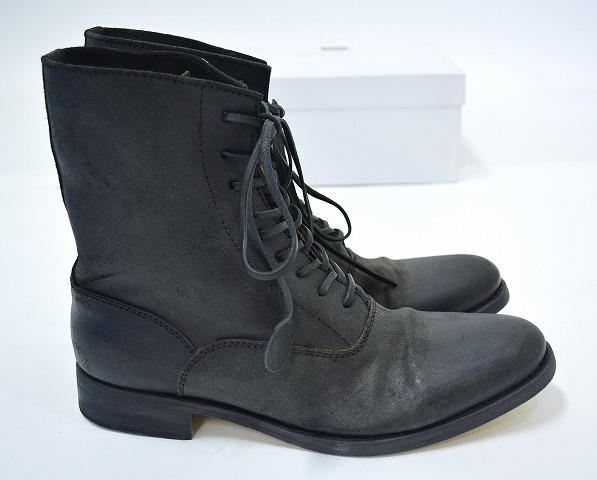 【新品】SAK (サク) Lace-up Boots Reverse レースアップブーツ 編み上げ Nero 42 BLACK RYUSAKU HIRUMA