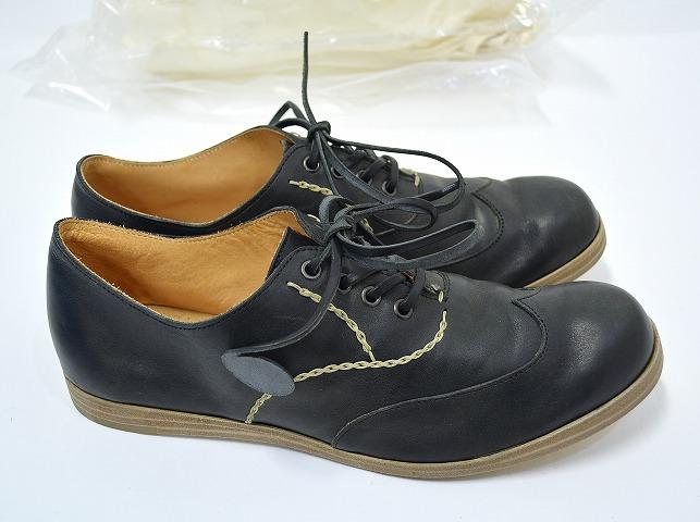 【新品】SAK (サク) Onepiece Calf Leather Shoes Wingtip (Black) ワンピースカーフレザー ウイングチップシューズ RYUSAKU HIRUMA 40