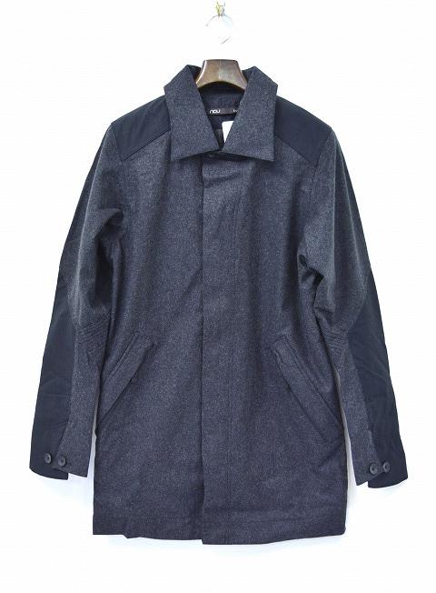 【新品】 nau (ナウ) ELIMENO PEA COAT ウール ピーコート CAVIAR HEATHER チャコール S Pコート