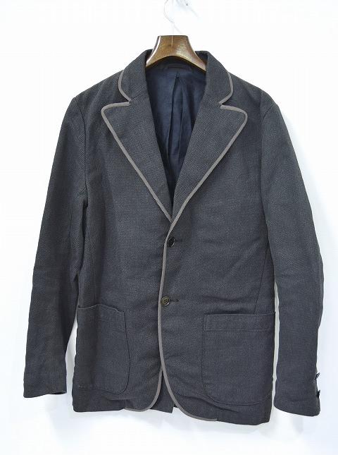 【美中古】 SPLOTCH of ink (インク)Piping Tailored Jacket テーラードジャケット スクールジャケット BLACK M   【中古】