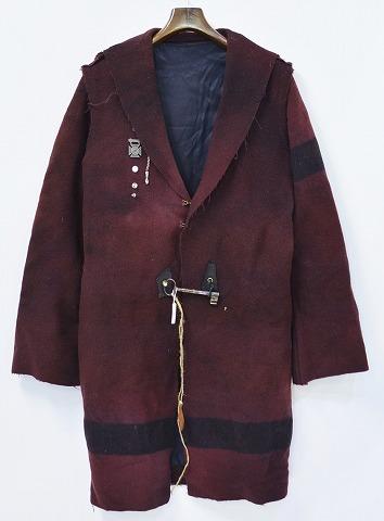 【新品】 LEROY (リロイ) ブランケットウールコート BROWN FREE