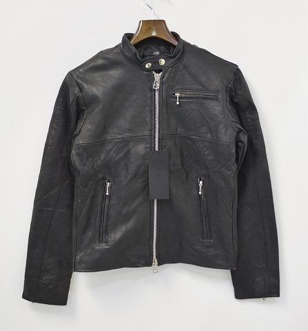 【新品同様】 EINS(エインズ) Reproduct Single Leather Riders Jacket リプロダクト レザー ライダースジャケット BLACK 1