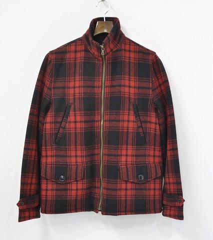 【中古】HYSTERIC GLAMOUR(ヒステリックグラマー) CHECKジップアップブルゾン RED S チェックジャケット