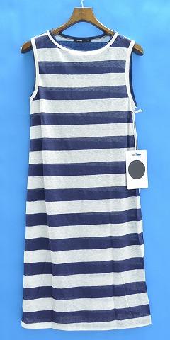 【新品】【レディース】 bassike (ベイシーク) Stripe Linen Tank Dress ストライプリネンタンクドレス S NAVY×WHITE ノースリーブワンピース