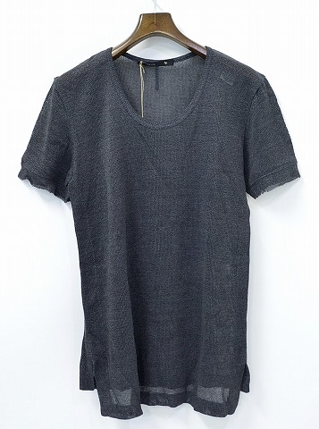 【新品】 KLASICA (クラシカ) U-neck Knit Tee GRASLO PP Uネックニット半袖Tシャツ 2 GREY 14SS