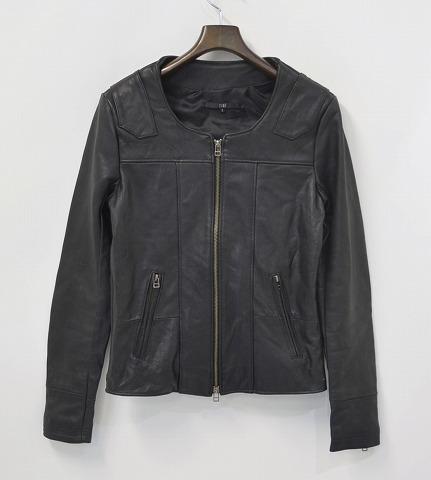 【新品同様】 EINS(エインズ) Reproduct Single Lamb Leather Riders リプロダクトレザー ライダースジャケット BLACK 1