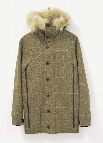 【新品】 GRIFFIN (グリフィン)DARTMOUTH REVERSIBLE COAT FOX CHECK ダートマス リバーシブルコート ファー チェック BROWN/CAMO XS