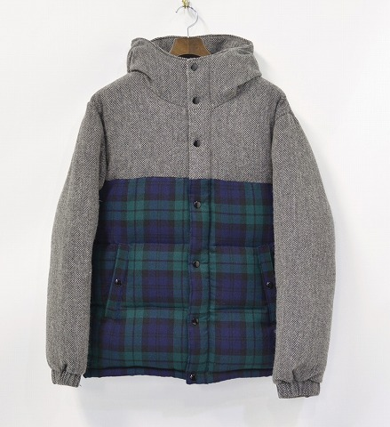 【中古】MR.GENTLEMAN (ミスタージェントルマン)DOWN JACKET ダウンジャケット GRAY BLACKWATCH L MISTERGENTLEMAN