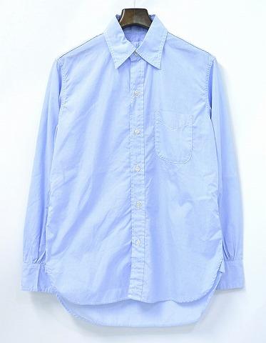 【新品】 Hombre Nino (オンブレニーニョ) WORK SHIRT (100/2) ワークシャツ M BLUE 14SS