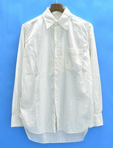 【新品】 Hombre Nino (オンブレニーニョ) WORK SHIRT (NEP STRIPE) ストライプワークシャツ M OFF WHITE 14SS