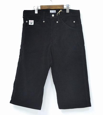 【新品】 Gauntlets (ガントレッツ) Corduroy 8/L pants コーデュロイ クロップドパンツ BLACK 32