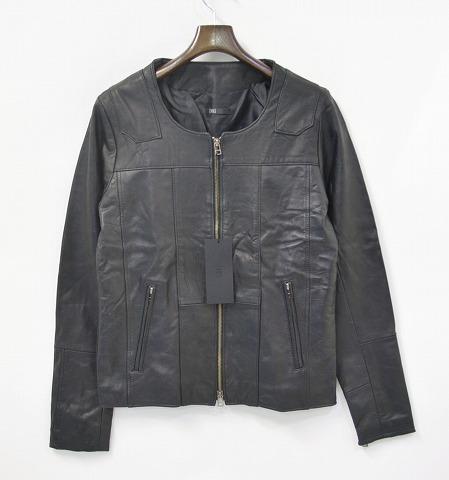 【新品同様】 EINS(エインズ) Reproduct Single Lamb Leather Riders リプロダクトレザー ライダースジャケット BLACK 2