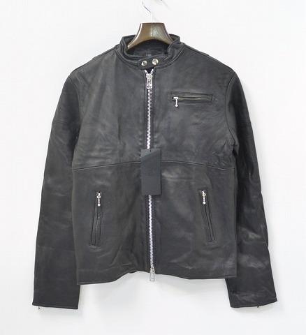 【新品同様】 EINS(エインズ) Reproduct Single Leather Riders Jacket リプロダクト レザー ライダースジャケット BLACK 2