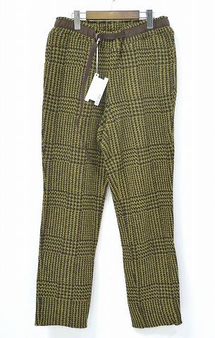 【新品】 ELATE (イレイト) Knit Climbing Pants (Glen Check) ニットウールイージーパンツ BLACK×KHAKI 1