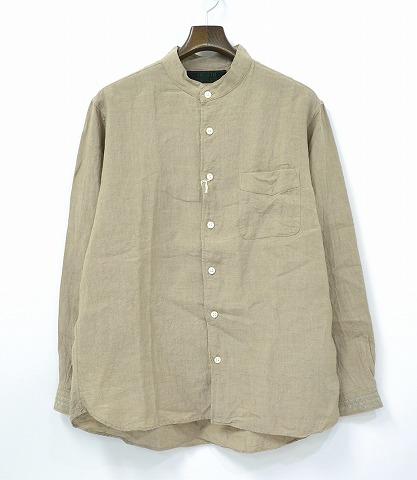 【新品】 HEALTH (ヘルス) Closely Shirts リネンシャツ WHITE L バンドカラーシャツ ノーカラー