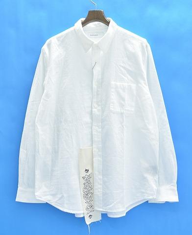 【新品】 PHENOMENON (フェノメノン) BIGTAG CHAMBRAY L/S SHIRT ビッグタグシャンブレーシャツ XL WHITE 15AW
