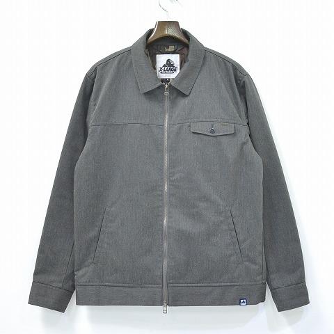 【中古】X-LARGE (エクストララージ) WORK JACKET ワークジャケット 15AW ASH L グレー 中綿 ブルゾン