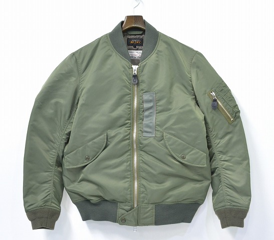 PLUS BEAMS (beams plus) L-2B down jacket 15 AW OLIVE L olive DOWN JACKET in  FLIGHT MILITARY ARMY military army