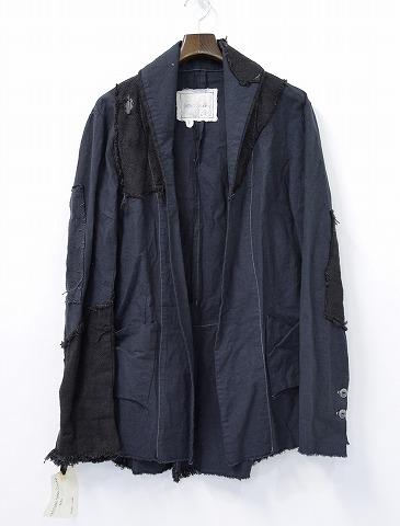 【新品】 GREG LAUREN (グレッグローレン) THE EXTENDED SHAWL COLLAR ショールカラージャケット 1 BLACK
