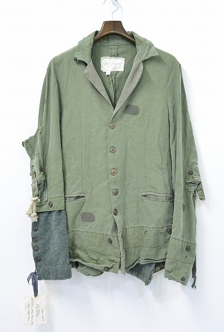 【新品】 GREG LAUREN (グレッグローレン) THE ARMY TENT BUTTON FRONT DICKENS テーラードジャケット 1 OLIVE