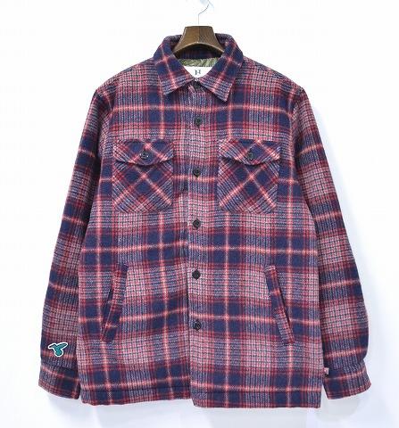 【中古】HABANOS (ハバノス) WOOL SHIRT JACKET ウールシャツジャケット TCF限定 15AW NAVY XL 中綿キルトジャケット THE CONTEMPORARY FIX限定 PRIMALOFT プリマロフト HBNS