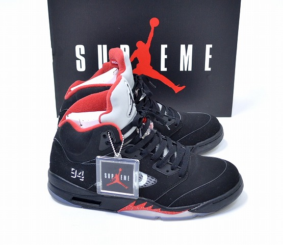 e2eed1a4c32c Supreme×Nike (Supreme x Nike) AIR JORDAN 5 RETRO SUPREME Air Jordan 5  retrospeam US11 29 cm BLACK 15AW 824371-001