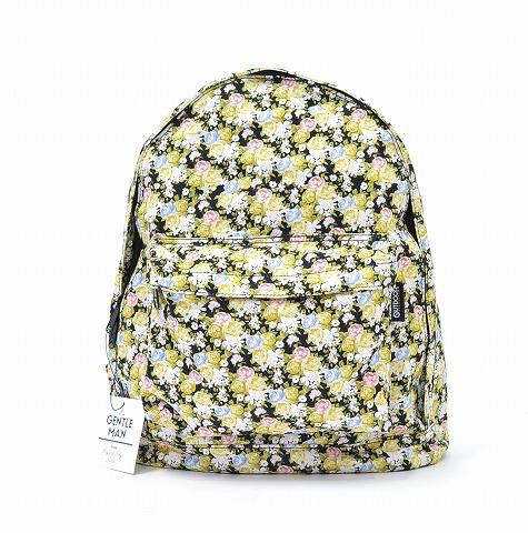 【新品】 Mr.GENTLEMAN×OUTDOOR PRODUCTS (ミスタージェントルマン×アウトドアプロダクツ) DAYPACK デイパック FREE LITTLE BLACK FLOWER 14SS 花柄 リュック バックパック 鞄