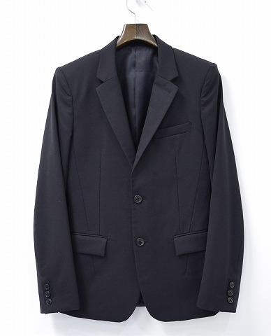 【中古】NUMBER NINE (ナンバーナイン) 2Bテーラードジャケット BLACK 2 ブラック 二つボタン 釦 JACKET JKT