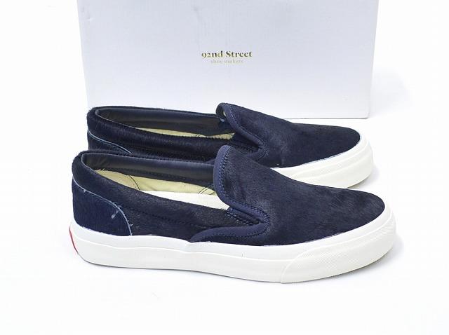 【新品】92nd Street Shoe Makers (ナインティセカンドストリート シューメーカーズ) ポニースリッポン NAVY US10 ネイビー PONY SLIP-ON スニーカー