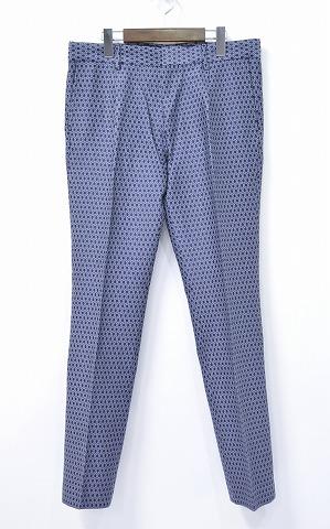 【新品】 Mr.GENTLEMAN (ミスタージェントルマン) MONOGRAM PANTS 総柄パンツ M NAVY 15SS
