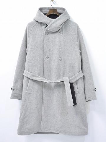 【新品】 bukht (ブフト) DETACHABLE HOODED COAT フーデッドコート 1(M) GREY 15AW 中綿入りコート