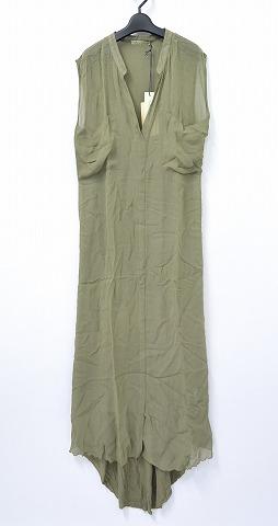 【新品同様】【訳あり】【レディース】 RABENS SALONER (レーベン サローネ) Mixed Media Sleeveless Dress ノースリーブドレス S MINK ワンピース 【中古】 ラーベンスサロナー