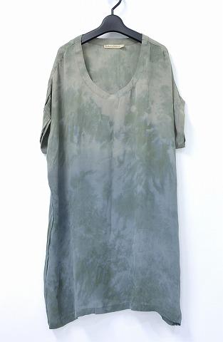 【新品】【レディース】 RABENS SALONER (レーベン サローネ) Dip Dye Marble Scarf Dress マーブル染めスカーフドレス S Charc./camel marble combo ワンピース ラーベンスサロナー