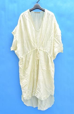 【新品】【レディース】 RABENS SALONER (レーベン サローネ) Marble Short Dress マーブル染めショートドレス S Ivory marble ワンピース ラーベンスサロナー