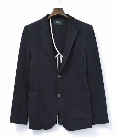 【中古】DELAY by Win&Sons (ディレイ バイ ウィンアンドサンズ) COOLMAX Thermal Angus JK クールマックス サーマル テーラードジャケット BLACK 44 ブラック Tailored Jacket