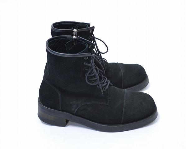 【中古】DELAY by Win&Sons (ディレイ バイ ウィンアンドサンズ) Darrell Boots ダレルブーツ BLACK L ブラック SUEDE スウェード スエード レザー 革 レースアップ サイドジップ