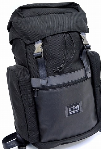 Manhattan Portage BLACK LABEL (black label Manhattan Portage) TWIN ISLAND BACKPACK backpack BLACK black backpack CORDURA BALLISTIC NYLON Cordura ballistic nylon passage