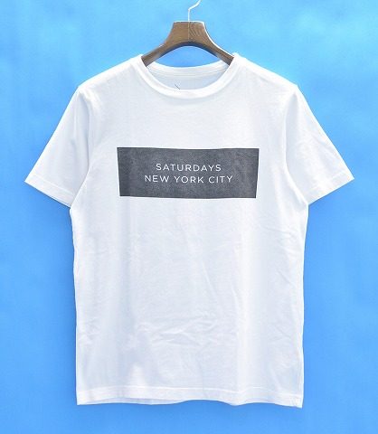 Free Shipping New Saturdays T-shirt - White Saturdays Surf NYC Original Online Sale Pick A Best Aaa Quality eMUmKKGld3